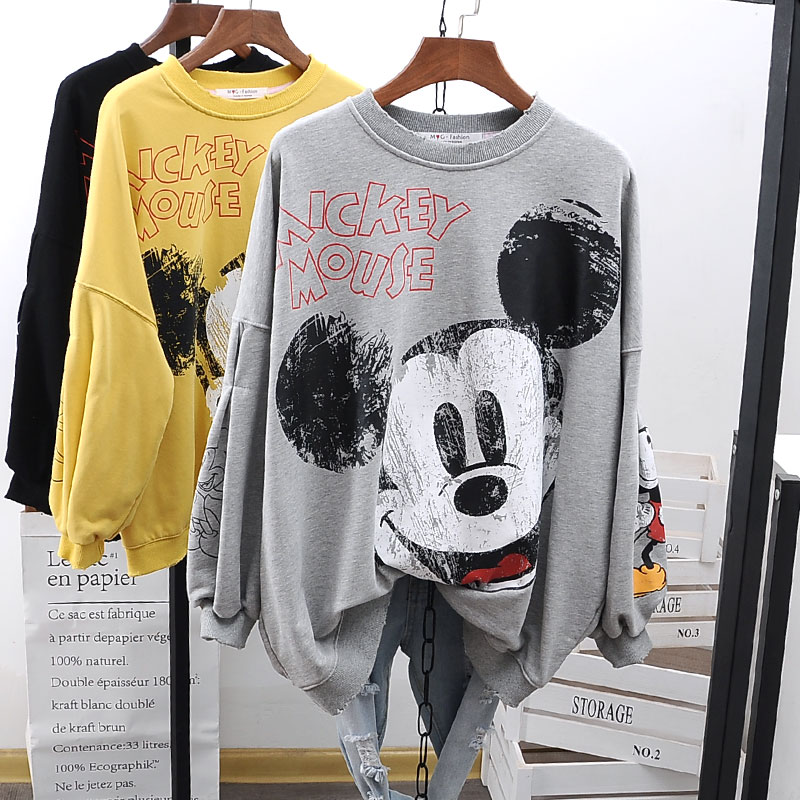 2020 Fashion Korean-style Spring Autumn Loose And Plus-sized Printed Students Sweatshirt Hoodies