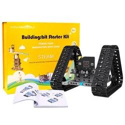 Micro: Bit GAMBO Kit Programmabile Microbit Robot FAI DA TE Toy Car Con Tutorial di Inseguimento Scientifica di Istruzione Regalo Per I Bambini
