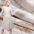 Американский стиль Роскошная золотая Цветочная металлическая жаккардовая парча ткань одежда для пальто платье tissu tecido stoffen fabric SP5136