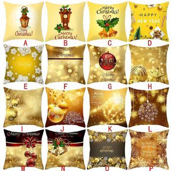 Natale 2019 Federa Natale Decorativo Coperture per Cuscini Autunno Cafe Soggiorno Decorazione Della Stanza Federe Cuscino Quadrati Dropship #