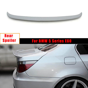 Rear Trunk Spoiler Wing for BMW 5 Series E60 2005-2008 FRP Unpainted Grey Trunk Trim Sticker Custom Spoiler Car Styling image