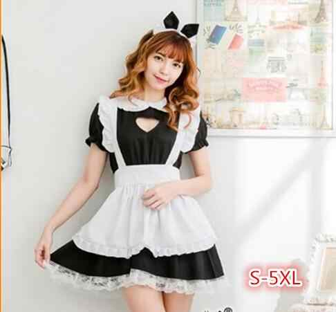S-5XL Nieuwe Sexy Sweet Lolita Dress Maid Kostuum Anime Cosplay Maid Uniform Plus Halloween Kostuums Voor Vrouwen