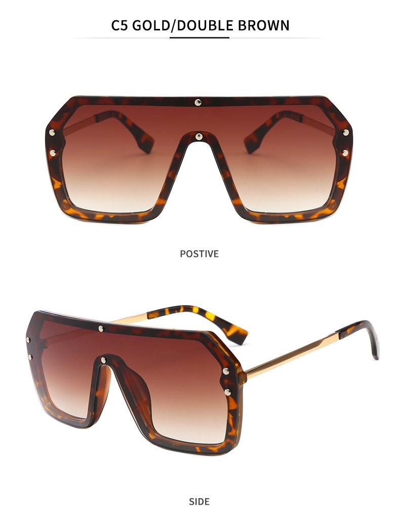 Luxury Brand Women's Sunglasses 2021 Trend One-Piece Lens Rimless Sunglass Female Designer Retro Sun Glasses For Women Gradient (11)