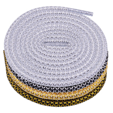 Weiou 100 Pairs A Lot Bulk Drop Shipping Order Silver Black Golden Metallic Yarn Round Shoelaces Top Accessory Ropes Save More
