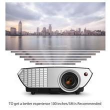 5 Inch TFT AC 100-240V 2000 Lumens Mini Portable LCD LED Projector Video Multimedia with HDMI Cable for Home Theater Movie