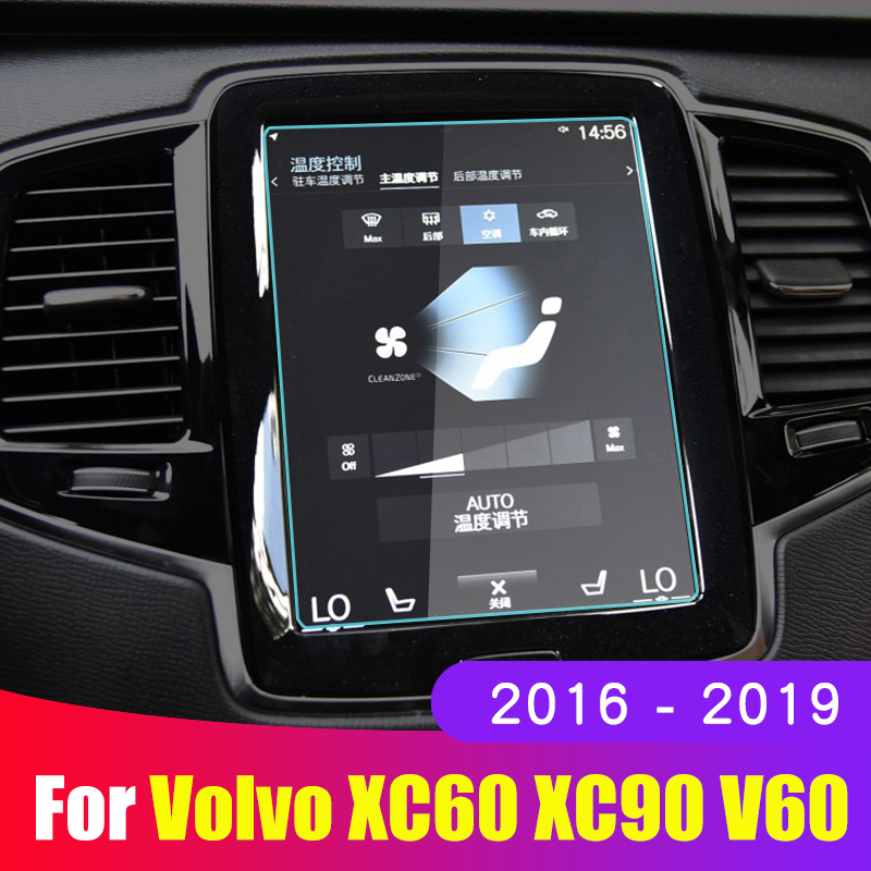 Car Screen Protective Film For <font><b>Volvo</b></font> <font><b>XC60</b></font> XC90 XC40 S90 V90 V60 2015-<font><b>2019</b></font> Car Navigation Screen Tempered Glass Protector Cover image