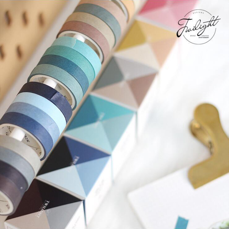 1PC 9mm*3m Twilight Washi Tape And Color Fall In Love Series Boxed Tape DIY Hand Account Decoration Japanese Paper