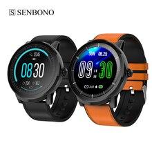 SENBONO – montre connectée ronde pour hommes et femmes, étanche IP67, horloge de sport, moniteur de fréquence cardiaque et dactivité physique, pour IOS et Android
