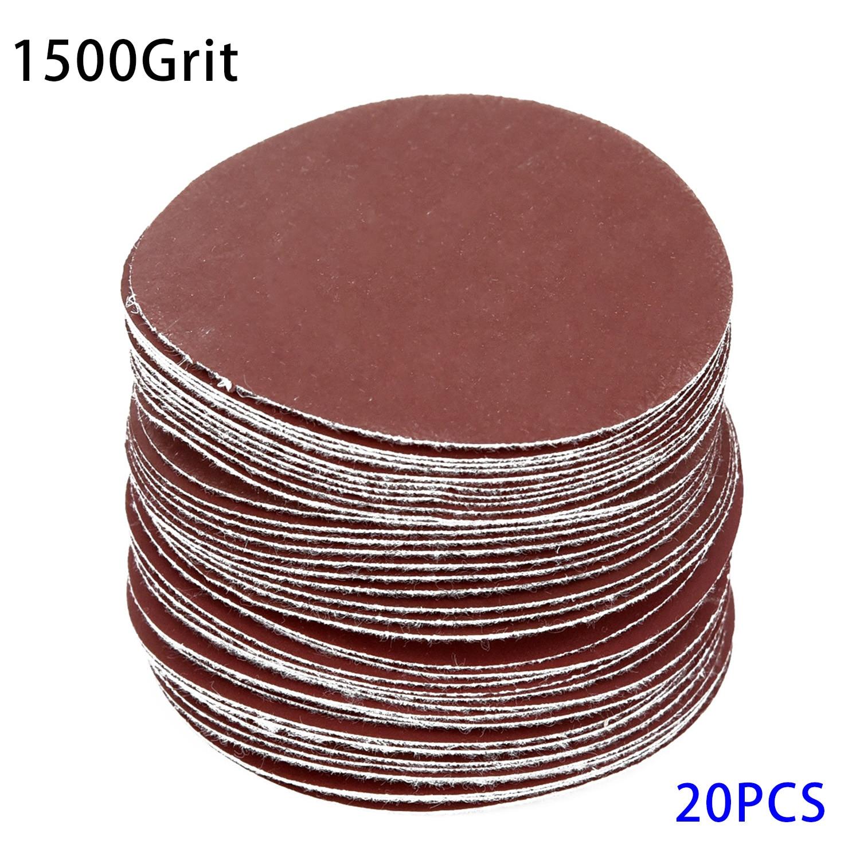 20pcs 3 75mm 40/100Grit Sander Disc Sanding Pad Polishing Pad Sandpaper Set Y1