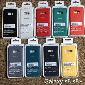 Image 1 - Samsung galaxy s8 s8plus capa de silicone, fundo fechado, toque macio, proteção completa para galaxy s8/8 + com caixa