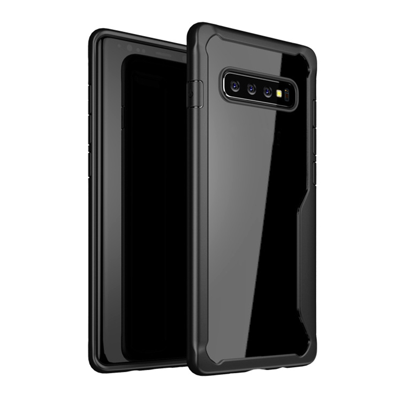 For Samsung Galaxy S10 Plus Shatter-Resistant Transparent Silicone Case Drop Resistant Cover Soft Anti-Fall Protection Shell