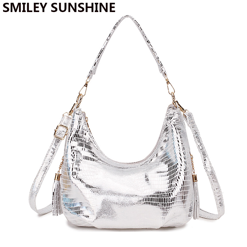 Snake Print Hobo Messenger Bag Women's Shoulder Bags Handbag Female Silver Small Crossbody Bags For Women 2019 Ladies Hand Bag