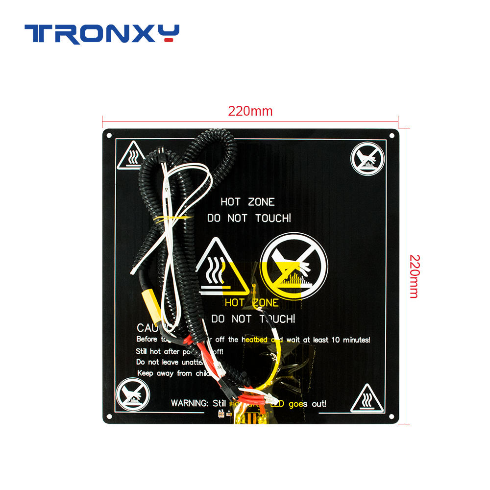 Tronxy 3D printer Parts 12/24V <font><b>Heat</b></font> <font><b>bed</b></font> DIY kit <font><b>220</b></font>*220mm/255*255mm/330*330mm standard aluminum plate Hotbed image