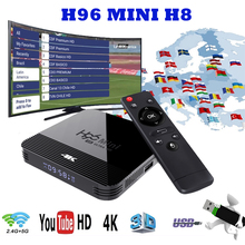 H96 Mini H8 TV Box Android 9.0 TV Box 4K IPTV Set-top Box H.265 Media Player HDMI 720P-2160P FUII 3D Home Audio Media Youtube 2019 best stable media player smart tv box netflix youtube h96max max rk3318 android tv box 2 4 5 0g wifi h 265 tv set top box