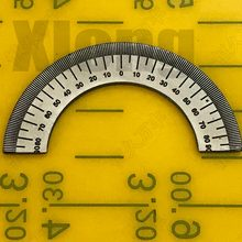 Outer Diameter: 49 Mm Semi-Circular Dial, Precision Semi-Circular Dial, Small Semi-Circular Angle Dial 49 # 31 # 2