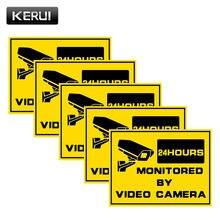 Kerui 5 шт наблюдения Предупреждение Стикеры мониторинга безопасности