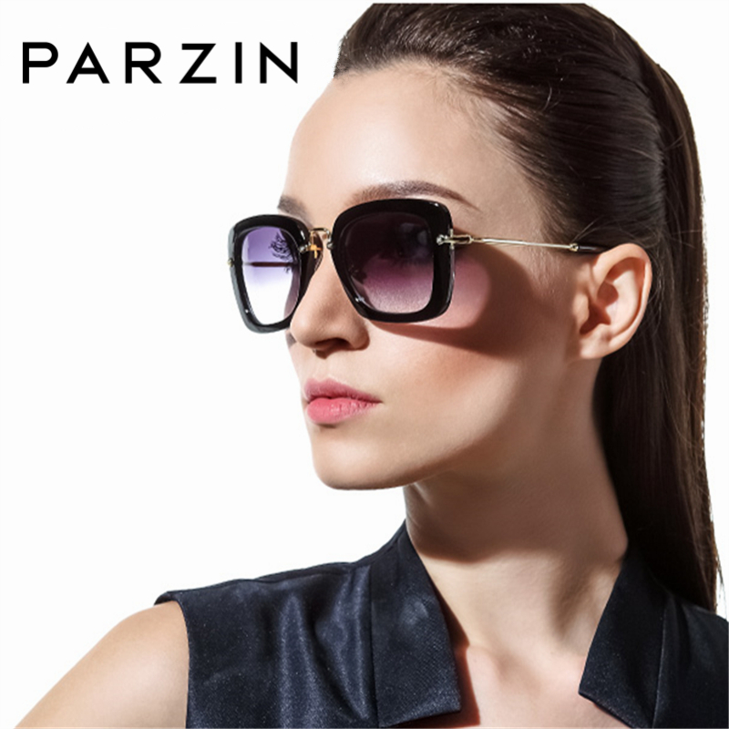PARZIN Women Square Frame Polarized Sunglasses Brand High Quality  Sun Glasses For lady Driving Fashion Eyewear Accessories 9535
