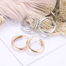 цены Euramerican OL Wind Earrings Gold Geometric Circle Large Earrings Exaggerate Alloy Earrings Women Fashion Jewelry Gifts