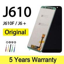 オリジナル新サムスンJ610表示タッチスクリーンSM J610F J610F卸売サムスンJ6プラス画面タッチディスプレイ
