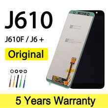 Originele Nieuwe Lcd Voor Samsung Galaxy J6 + J610 J610F J610FN Display Met Lijm Sticker Screen Voor Samsung J6 Plus scherm