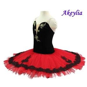 Image 2 - Rojo Negro profesional ballet tutu niñas clásico ballet tutu adultos disfraces de ballet tutu rendimiento mujeres