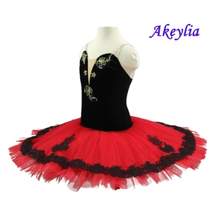Image 2 - Rood Zwart Professionele Ballet Tutu Meisjes Klassieke Ballet Tutu Volwassen Ballet Tutu Kostuums Prestaties Vrouwen