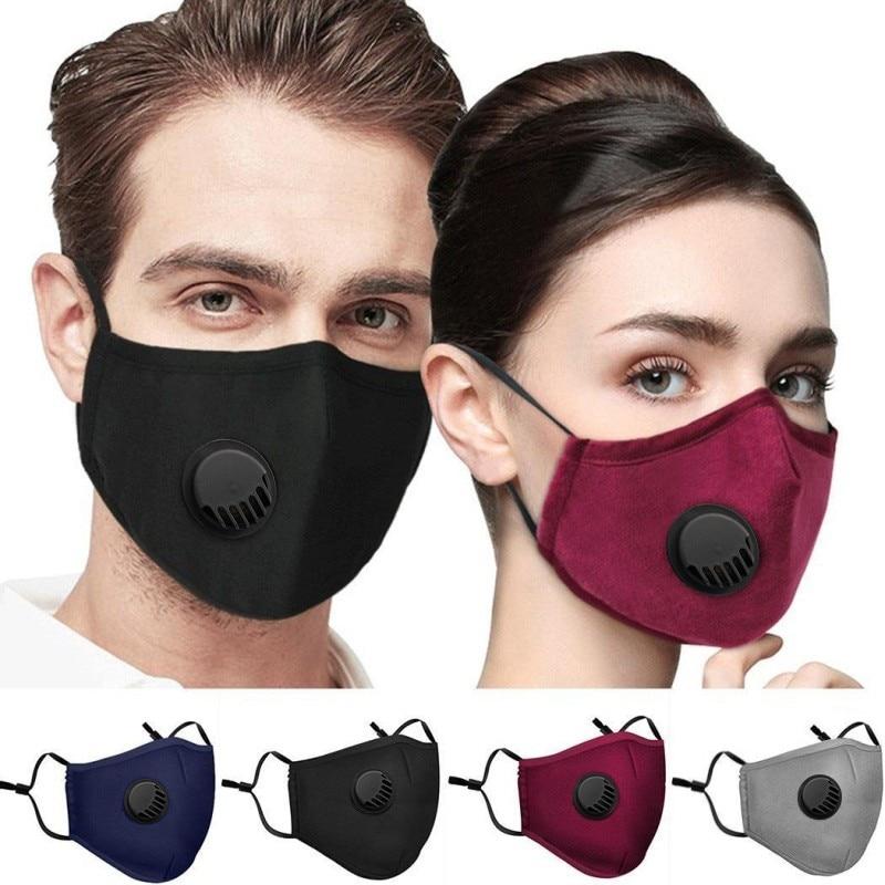 Anti-fog Haze Dust PM2.5 Washable Dustproof Mouth Mask With Breathable Valve