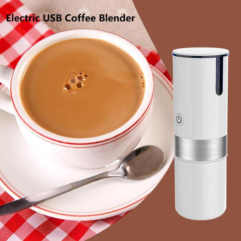 Portable Usb Electric Coffee Maker Automatic Coffee Machine Built-in Filter Cup For Home Travel Fast Drip Coffee  Usb Charging