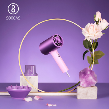 SOOCAS H5 Anion Hair Dryer Professional Blow quickly dry Electric Diffuser Aluminum Alloy Cold Hot Air Circulating - discount item  30% OFF Personal Care Appliances