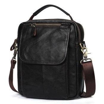 цена на New Handbag Men's 100% Genuine Cowhide Leather Shoulder Bag Quality Men Messenger Bags Crossbody for Men Briefcase Bags