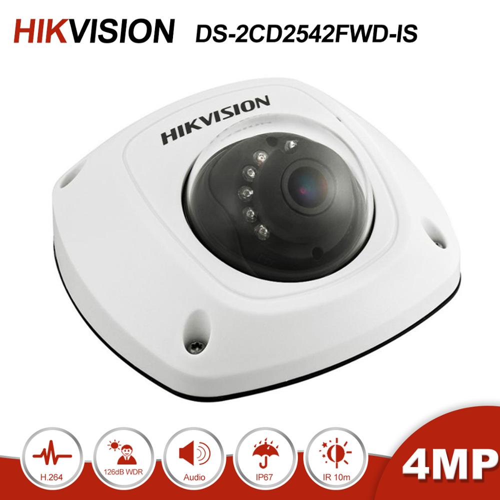 Hikvision DS-2CD2542FWD-IS 4MP Dome POE IP Camera With Audio Home/Outdoor Security IR 30m CCTV Video Surveillance H.264+ image
