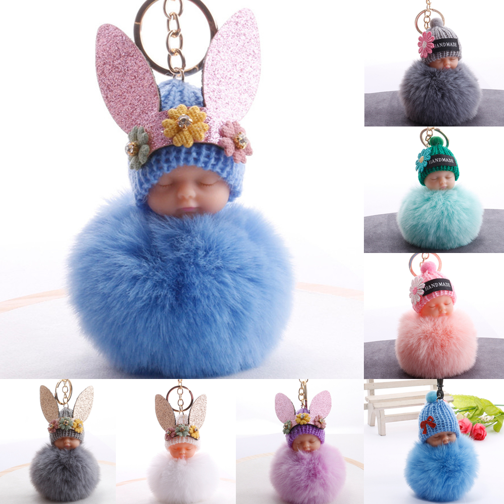 Angel Baby Plush Doll Pendant Valentine's Day Gift Birthday Party Gift Wedding Favors Fur Ball Key Chain Gifts For Lovers Guests(China)
