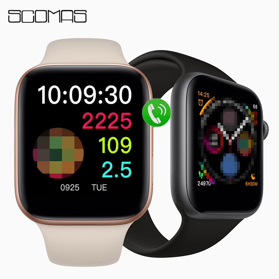 SCOMAS Newest Original IWO <font><b>12</b></font> <font><b>Smart</b></font> <font><b>Watch</b></font> Series 5 ECG Heart Rate Monitor IP68 Waterproof For Apple Android Smartwatch 44mm image