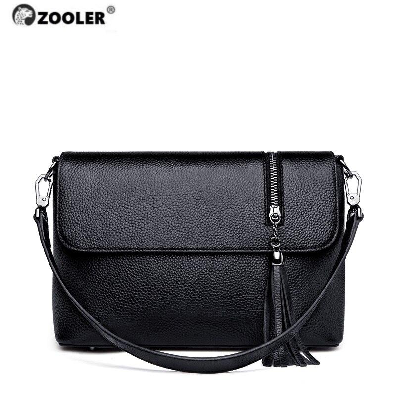 Presell ZOOLER Genuine Leather Shoulder Bags Black Hot Women Luxury Hand take bags Ladies Handmade Cow Leather Girls Bag#WG251