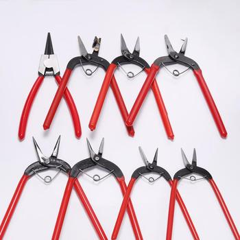 1pcs Jewelry Pliers Tools & Equipment Kit Long Needle Round Nose Cutting Wire Pliers For DIY Jewelry Making Handmade Accessories diy handmade jewelry tool pliers needle nose pliers pink multifunctional curved nose pliers oblique cutting pliers mini pliers