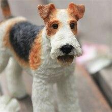 JJM в британском стиле с рисунком лисы терьеров собака фигурка для домашних животных украшение «животное» коллектор игрушка в подарок для де...