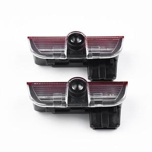 Image 3 - LED רכב דלת באדיבות אורות מקרן מנורת דקור גאדג טים עבור פולקסווגן פאסאט B6 B7 B8 B9 CC גולף 5 6 7 Tiguan R קו 2005 2020 2019