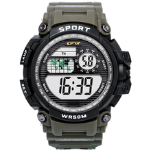 Digital Watch Military Watch 50m Waterproof Wristwatch LED Watch Sport Watch Men Watch Male relogios masculino Fitness cheap Stainless Steel 22cm 5Bar Buckle ROUND 20mm 18mm Hardlex Stop Watch Back Light LED display Repeater Auto Date Chronograph