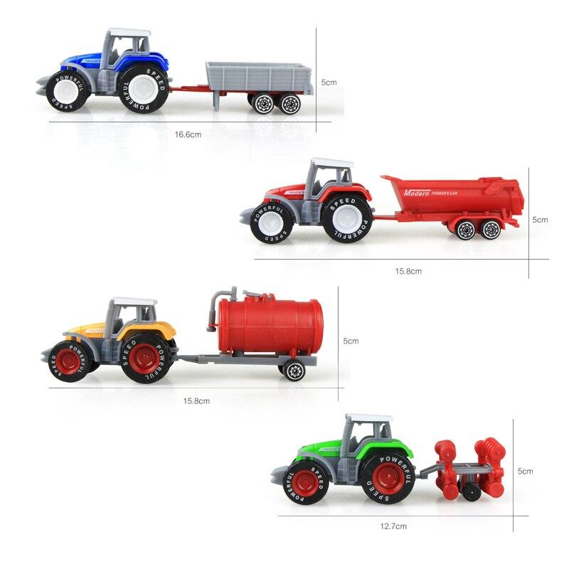 Die-cast Farm Vehicles Mini Car Model Engineering Car Model Tractor Engineering Car Tractor Toys Model for Kids Xmas Gift 3