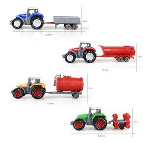 Image 3 - Die cast Farm Vehicles Mini Car Model Engineering Car Model Tractor Engineering Car Tractor Toys Model for Kids Xmas Gift