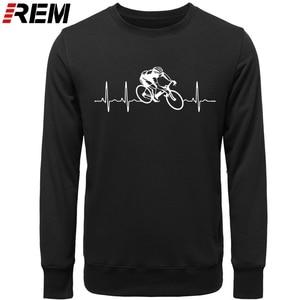 Image 2 - Venda quente moda cyclings batimento cardíaco padrão unissex hoodies, camisolas
