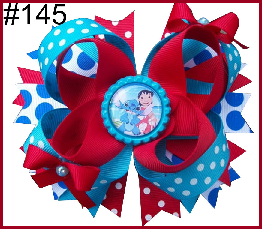 Free Shipping 2017 Newest 12pcs 5.5'' Inspired Hair Bows Popular Character Hair Bow With Lined Clips Bouqiue Girl Hair Bows D