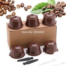 6 pçs pacote reutilizável dolce gusto cápsula de café plástico recarregável compatível dolce gusto nescafé máquina de café filtro