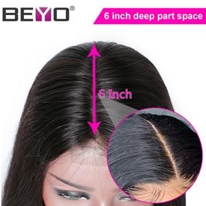 Image 3 - תחרה מול שיער טבעי פאות 2x6 תחרה סגירת פאה מראש קטף ישר תחרה מול פאה עם תינוק שיער פרואני פאת רמי Beyo שיער
