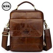 Men Genuine Leather Bag Shoulder High Quality Luxury Handbag Messenger Bags Small Flap KSK