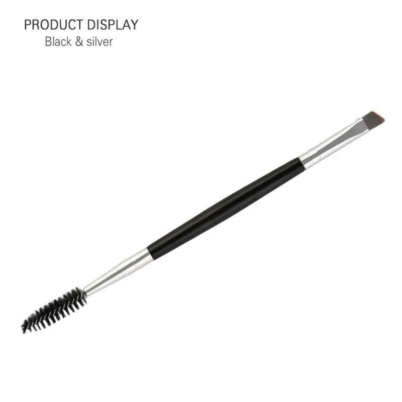 1 pçs único e duplo cílios maquiagem escova portátil ferramenta de maquiagem profissional náilon sombra escova de ondulação escova de cosméticos