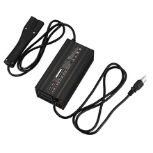 Trickle Mode 48V 5A Golf Cart Fully Automatic Battery Charger LED Status Lights 3-Pin Connector Fast Charge for EZ-Go RXV TXT Po