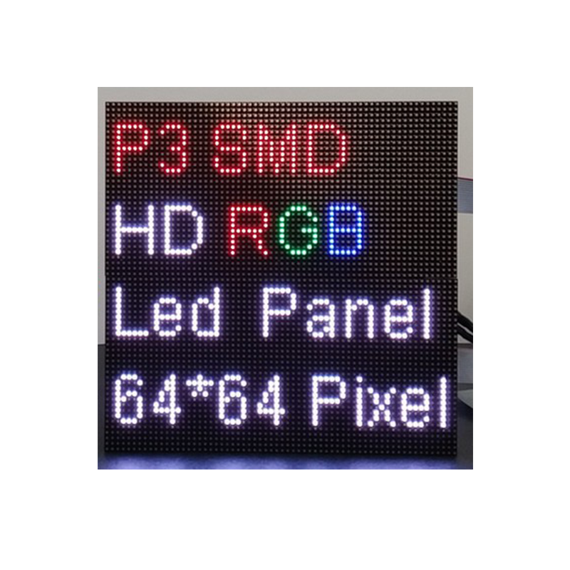P3 64x64 Dots Indoor Led Display UHD Full Color Smd Advertising Led Screen Matrix For Tv