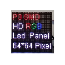 P3 64x64 dots indoor led display UHD full color smd advertising screen matrix for tv