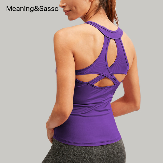 Women Yoga Shirt Backless Sleeveless Female Shirts Quick-Dry Sports Vest Breathable Womens Sportswear yoga Fitness Workout Tops